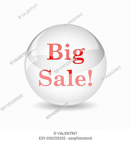 Big sale icon. Internet button on white background