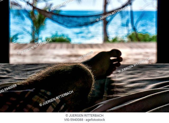 View from the bed to the sea, Zanzibar, Tanzania, Africa - Zanzibar, Tanzania, 30/10/2015