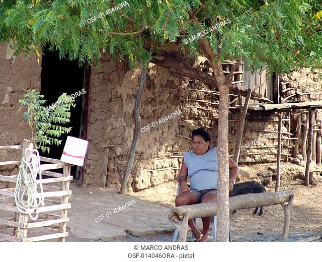 a simple person woman from maranhao