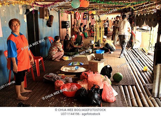 Celebrating Gawai at Annah Rais's long house, Sarawak, Malaysia