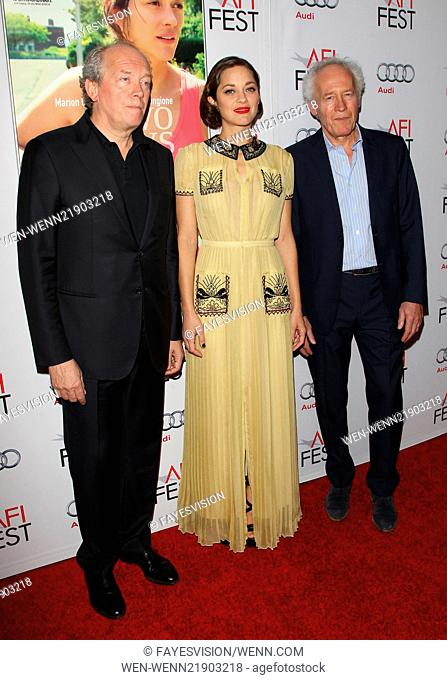 AFI Fest 2014 - 'Two Days, One Night' - Special screening presented by Audi Featuring: Jean-Pierre Dardenne, Marion Cotillard, Luc Dardenne Where: Hollywood