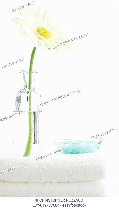 Spa Display on White Background