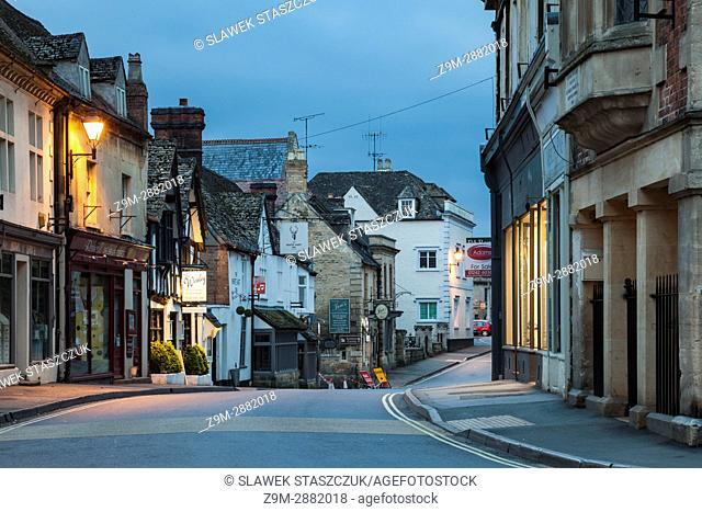 Spring dawn in the small Cotswold town of Winchcombe, Gloucestershire, England