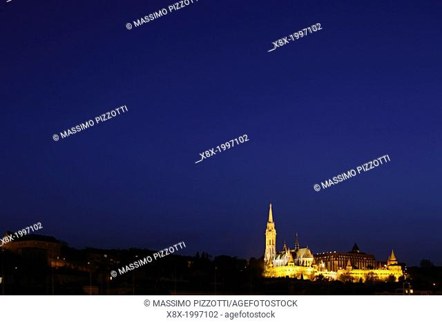 Budapest skyline with Matthias Church, Budapest, Hungary