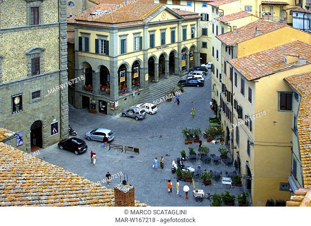 europe, italy, tuscani, cortona, signorelli theatre