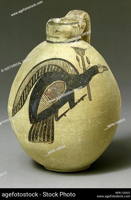 Terracotta jug. Period: Cypro-Archaic I; Date: ca. 750-600 B.C; Culture: Cypriot; Medium: Terracotta; Dimensions: H. 9 15/16 in. (25