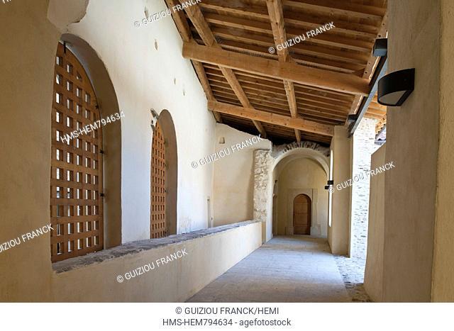 France, Loire, Parc Naturel Regional du Pilat Natural Regional Park of Pilat, the former Carthusian monastery of Sainte Croix en Jarez