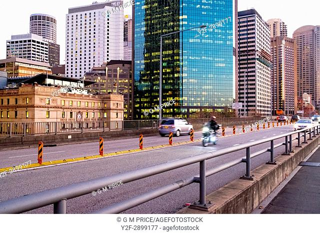 traffic on Cahill Expressway, Sydney
