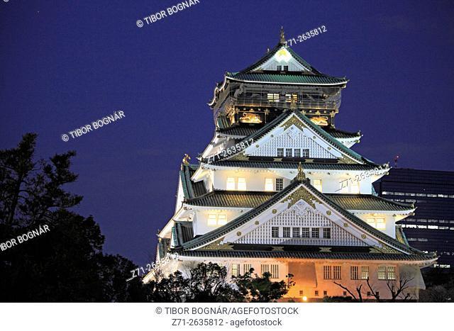 Japan, Osaka, Castle,