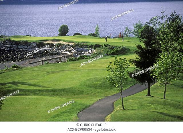 Furry Creek Golf Course, on Howe Sound, on Highway 99 near Squamish, British Columbia, Canada