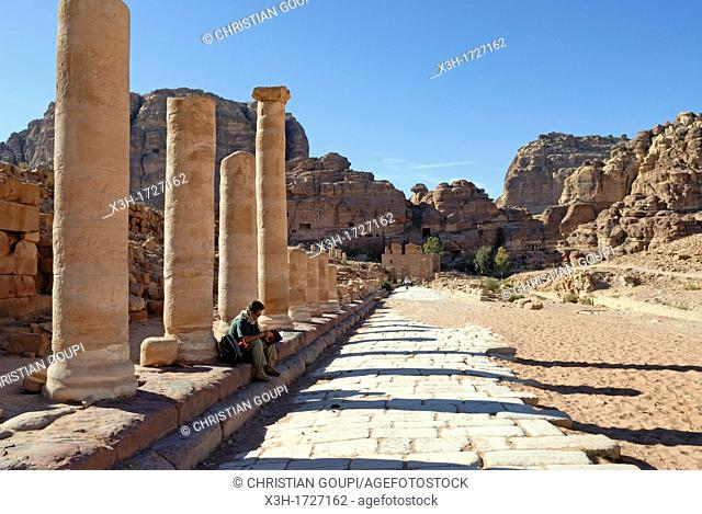 Cardo Maximus, Petra, Jordan, Middle East, Asia