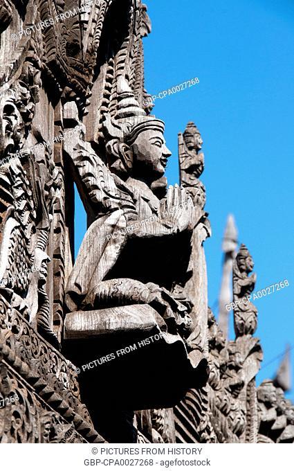 Burma / Myanmar: Roof detail, Shwe Nan Daw Kyaung (Shwenandaw Monastery or Golden Palace Monastery), Mandalay