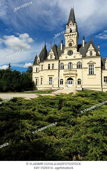 The romantic manor house in Budmerice, Slovakia