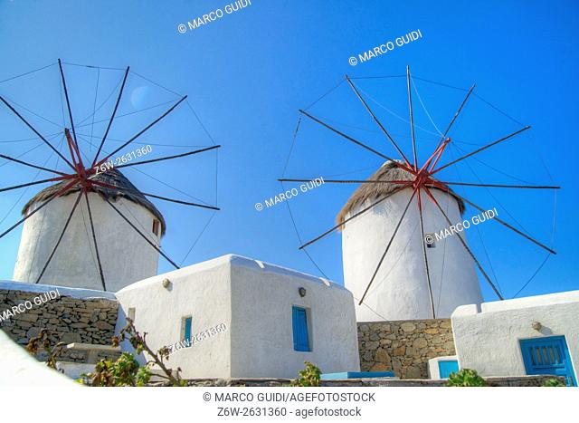View and special architecture europe island of Mykonos Greek
