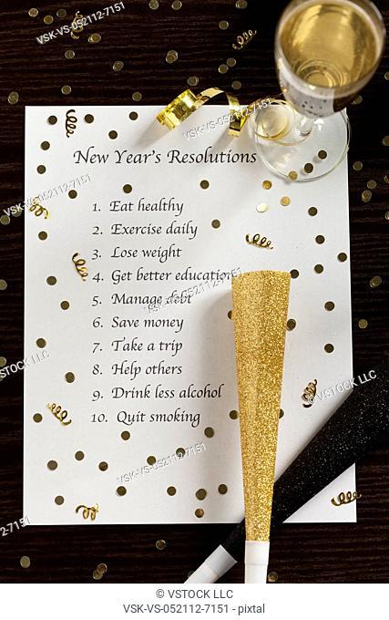 USA, Illinois, Metamora, Planning for New Year