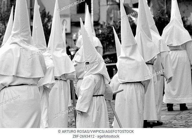 Capuchins in the Good Friday procession of San Lorenzo de El Escorial (Madrid), Spain