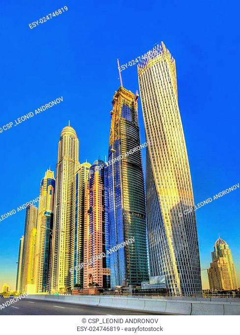Skyscrapers in the World's Tallest Tower Block - Jumeirah, Dubai
