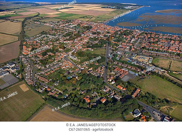 Wells next the sea Norfolk from the air