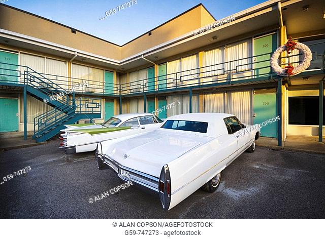 Lorraine Motel where Martin Luther King was assassinated Memphis Tennessee USA