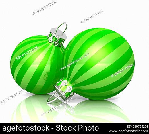 2 Weihnachtskugeln - Grün 01