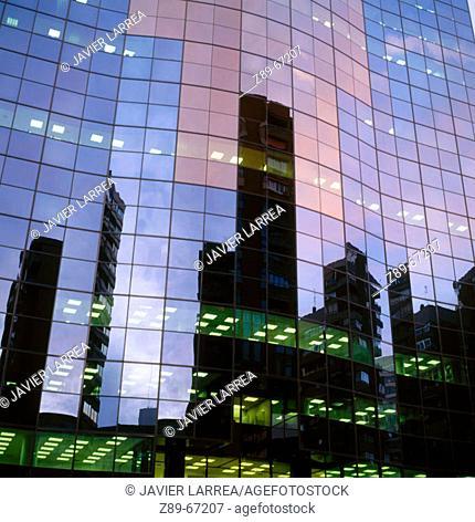 Grupo Santander office building in Azca district, Madrid. Spain