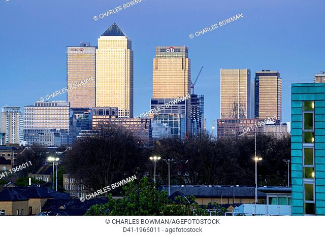 Europe, UK, England, London, Canary Wharf,