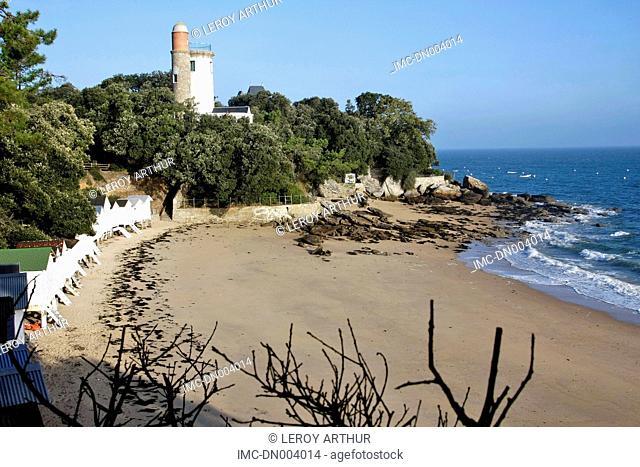 France, Pays de la Loire, Noirmoutier, Anse Rouge beach