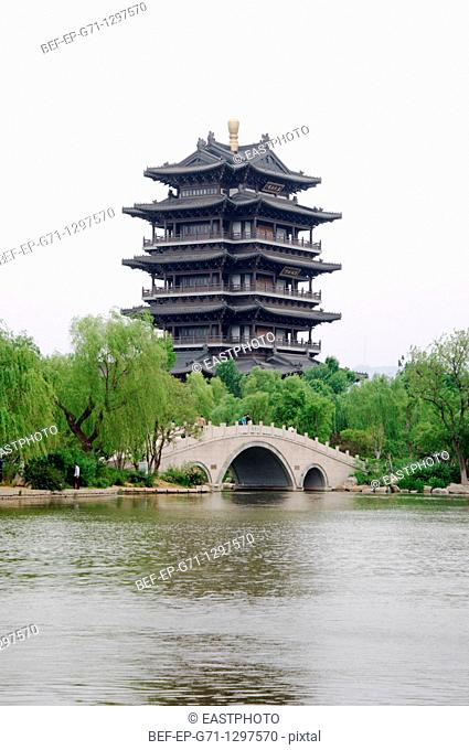 The ancient tower of Hushan, Jinan