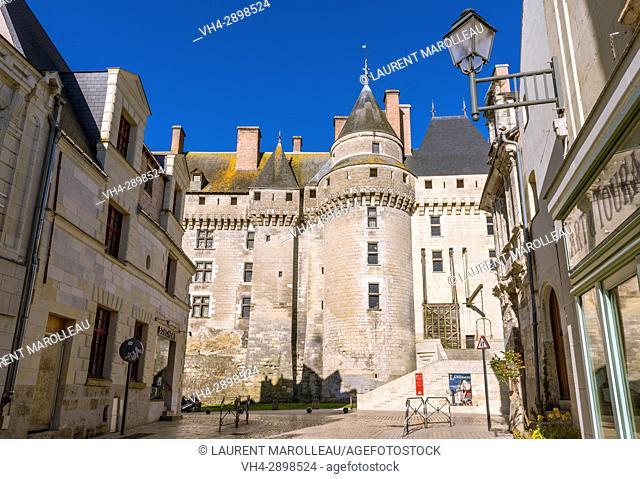 The City and the Castle of Langeais, Indre-et-Loire, Centre region, Loire valley, France, Europe