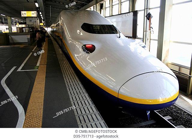 Tohoku Shinkansen Super Express Train, Takasaki Station, Honshu, Japan