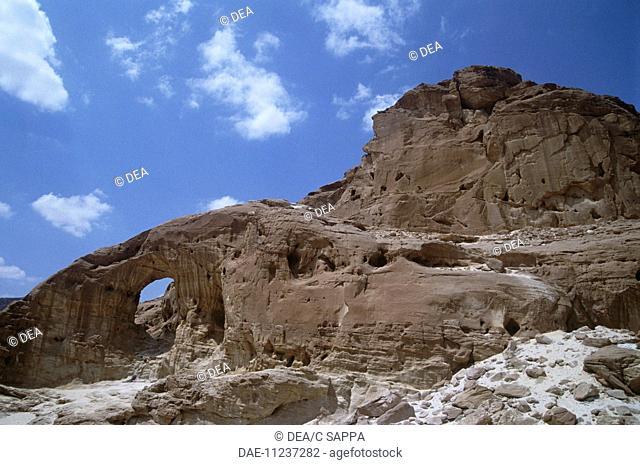 Israel - Negev Desert - Timna Valley National Park - Eroded sandstone formations
