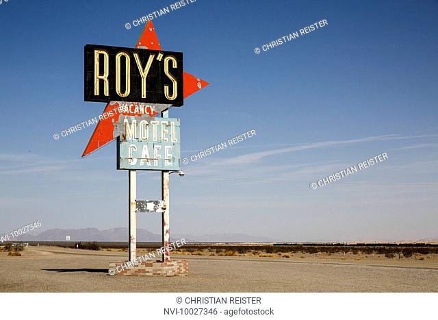 Roy's Motel and Café, Amboy, Mojave Desert, San Bernardino County, California, United States