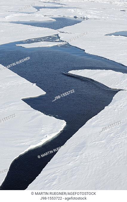 Crack in Pack ice  Weddell Sea, Antarctic Peninsula, Antarctica