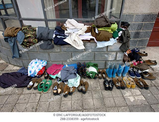 Shoes And Clothes Used During Filming At Pyongyang Film Studio, North Korea