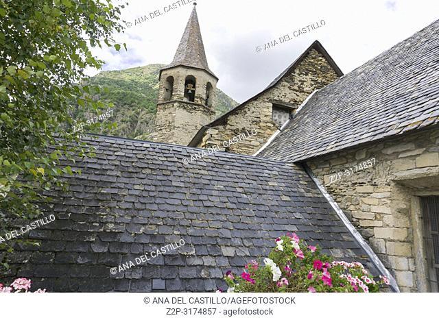 Flowered Bagergue village Aran valley Lleida Catalonia Spain