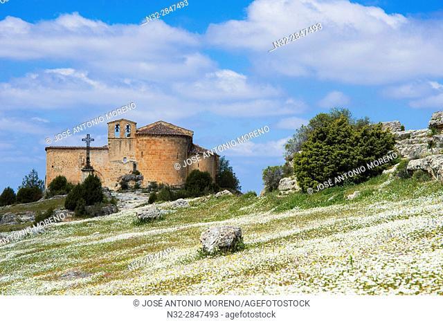 San Frutos del Duraton Hermitage, Hoces del Duraton, Duratón river gorges, Hoces del Río Duratón Natural Park, Sepulveda, Segovia province, Castilla-Leon, Spain