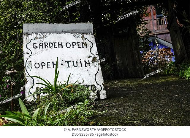 Santana, Madeira, Portugal A roadside garden is open to the public