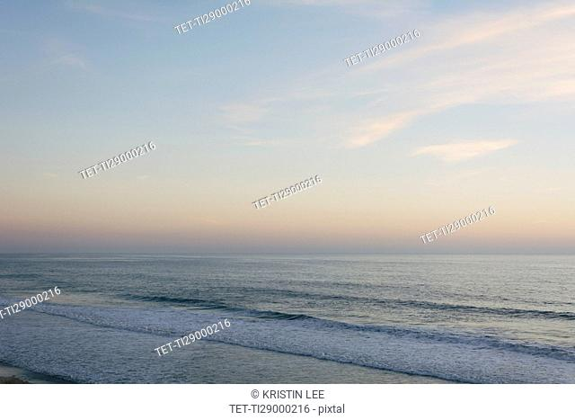 Scenic seascape at dusk