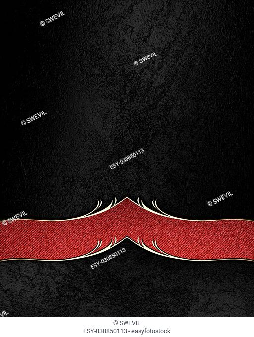 Black velvet background with red decoration. Element for design. Template for design. copy space for ad brochure or announcement invitation, abstract background