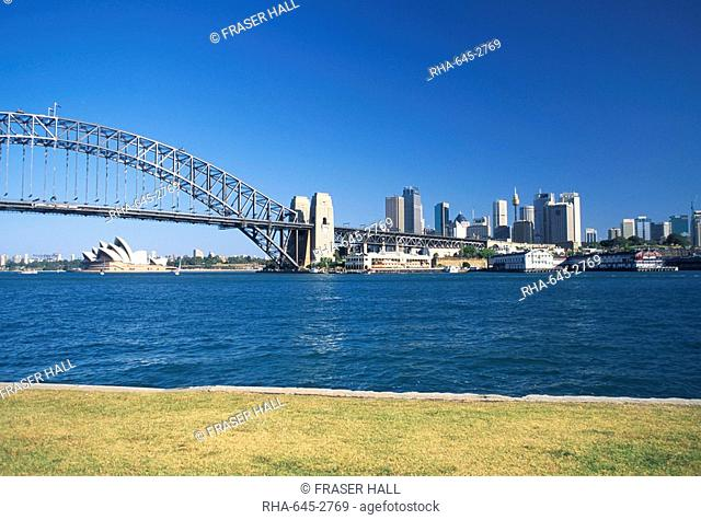 Sydney Harbour Bridge and Opera House, Sydney, New South Wales, Australia, Pacific