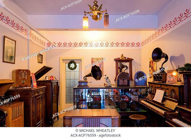Heritage Music Store, Burnaby Village Museum, Burnaby, British Columbia, Canada