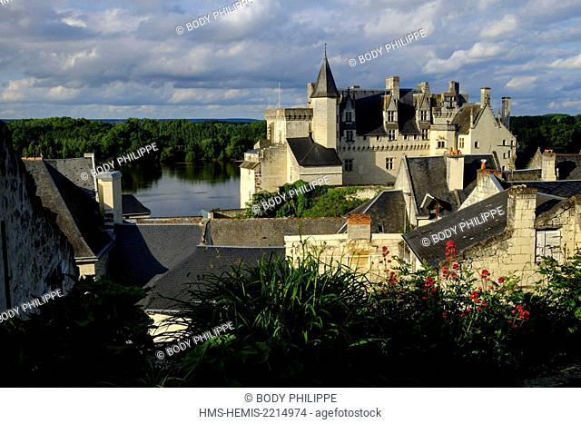 France, Maine et Loire, Loire Valley,listed as Word Heritage by UNESCO, Montsoreau, castle dated 15 th. century along the Loire river