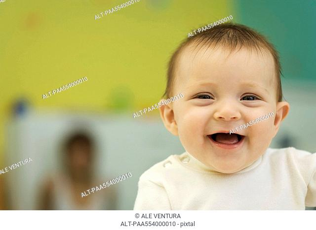 Laughing baby, portrait