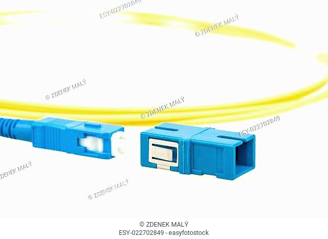 blue fiber optic SC connector