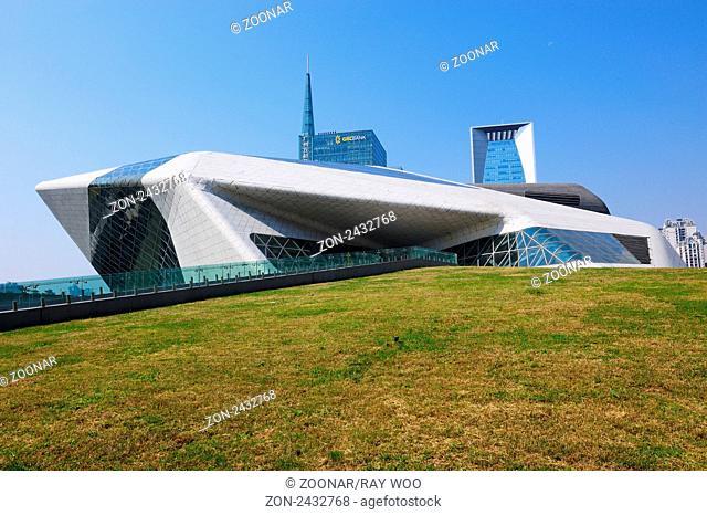 Guangzhou Grand Theatre in Zhujiang New Town of Guangzhou City, Guangdong province, China
