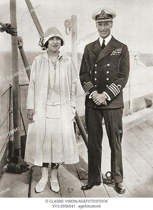 The Duke and Duchess of York during their tour of the Empire in 1927. Prince Albert, Duke of York, future George VI, 1895 - 1952