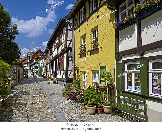 Houses at Schlossberg, Quedlinburg, Saxony-Anhalt, Germany