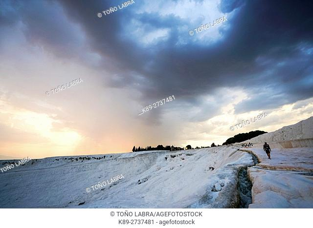 Pamukkale thermal waters. Turkey