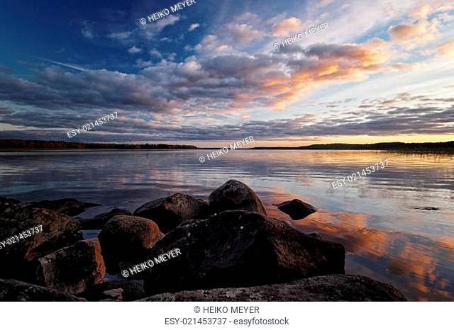 Seeblick an einem skandinavischen See