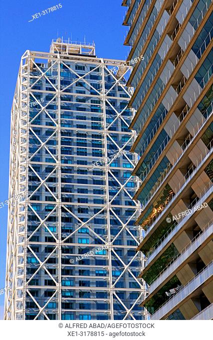 hotel Arts and Torre Mapfre, Barcelona, Catalonia, Spain